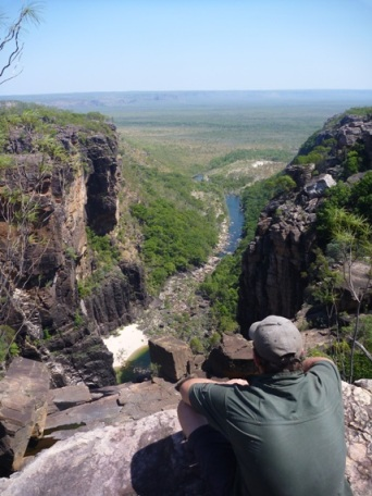 Looking Down over Jim Jim falls - Kakadu Explorer
