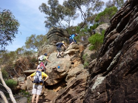 Climbing to St Mary Peak - Heysen Trail