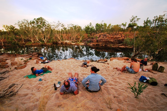Camp on the Koolpin Explorer Trek, Kakadu